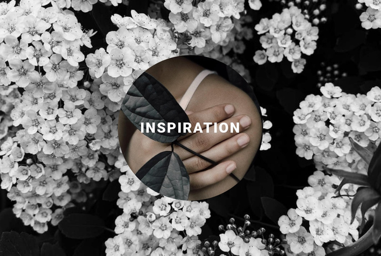 Inspiration in floral Website Template