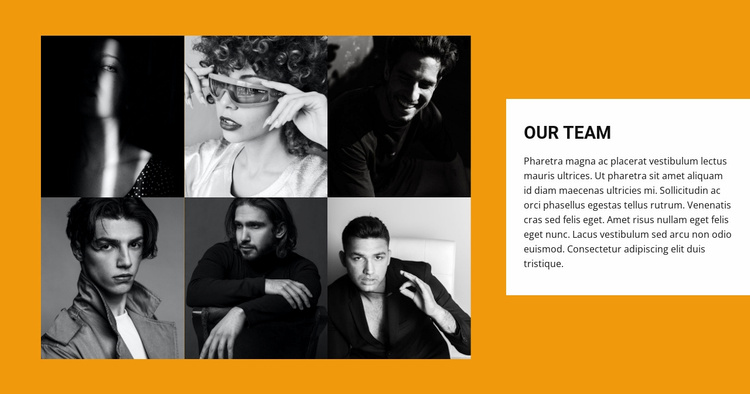 Gallery with team Website Template