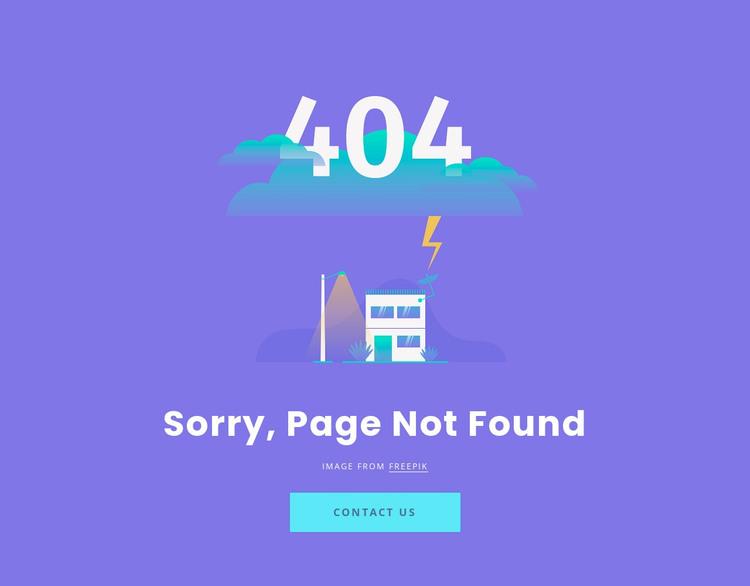 404 not found message WordPress Theme