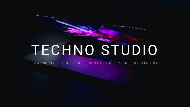 Welcome to techno studio Joomla Page Builder