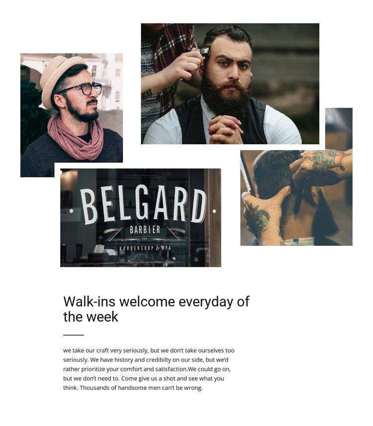 Belgard barbier One Page Template