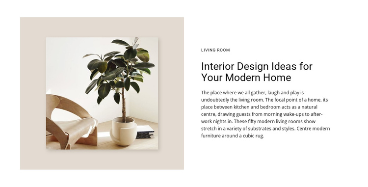 Interior design Website Builder Software