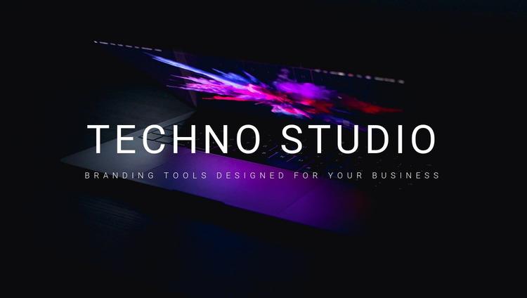 Welcome to techno studio Website Mockup