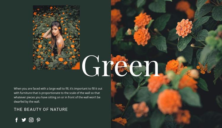 Varieties of the color green WordPress Website Builder