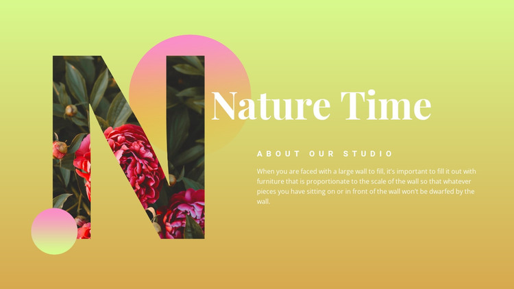Nature time  HTML Template