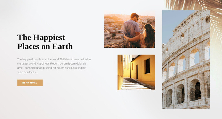 The happiest places on earth Website Template