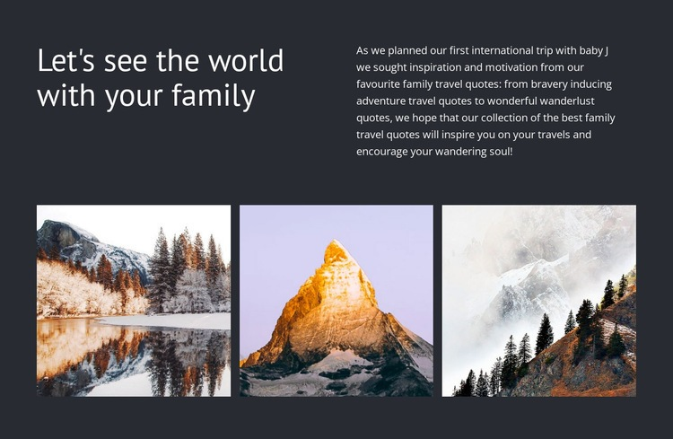 Travel with your  family Html Code Example