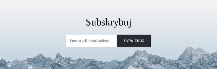 Formularz subskrypcji z tłem Szablon witryny sieci Web