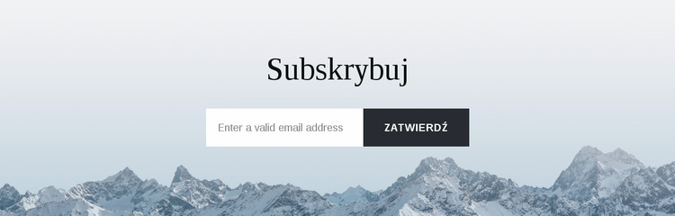 Formularz subskrypcji z tłem Szablon Joomla