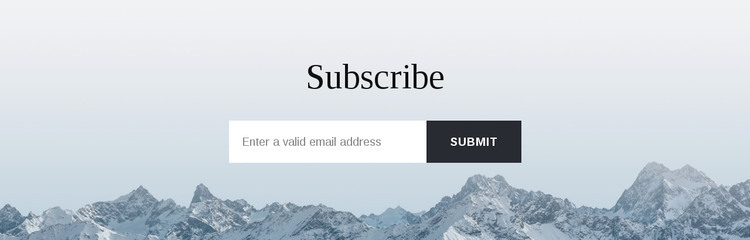 Subscribe form with background Web Design