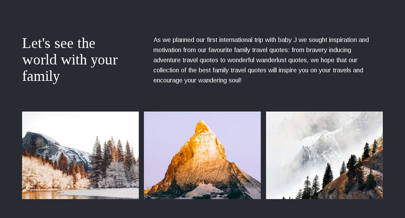 Travel with your  family Web Page Designer