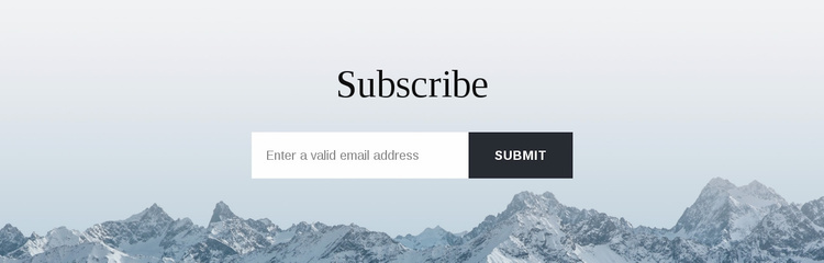 Subscribe form with background Landing Page