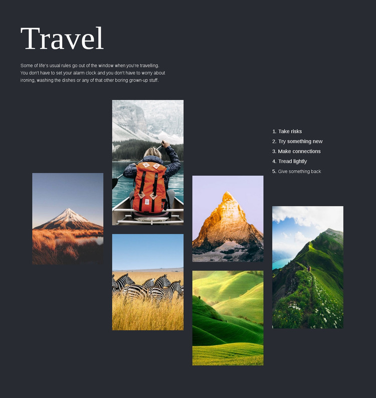 Travel Homepage Design