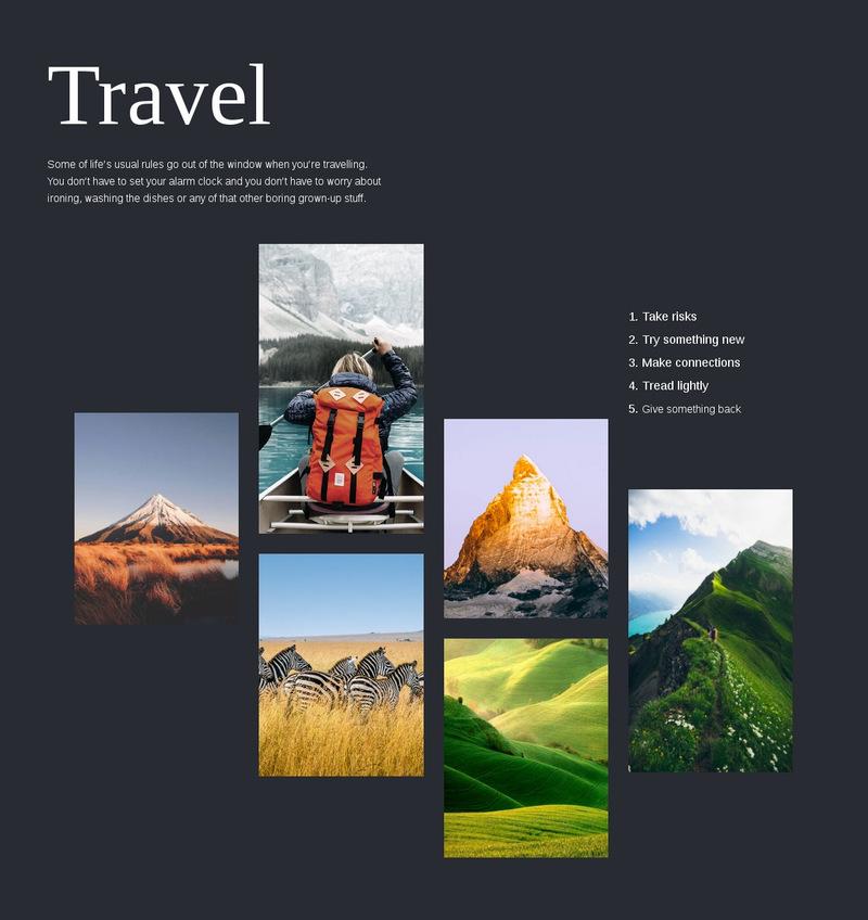 Travel Web Page Designer