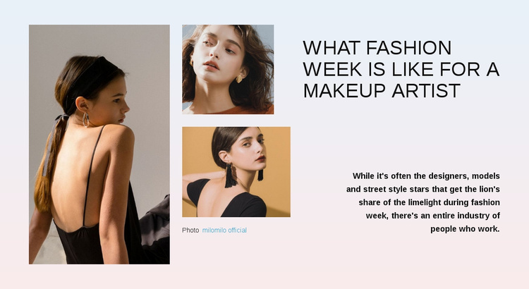 Fashion week Website Template