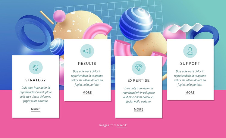 Strategy, marketing, support HTML Template
