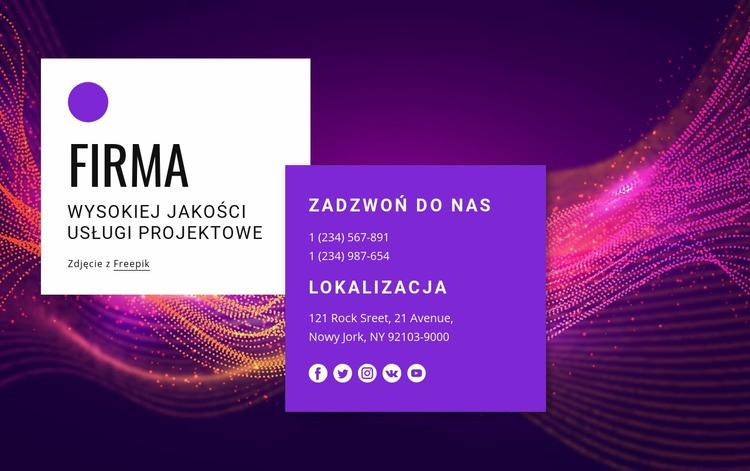 Kontakt z niesamowitym zespołem projektowym Szablon Joomla
