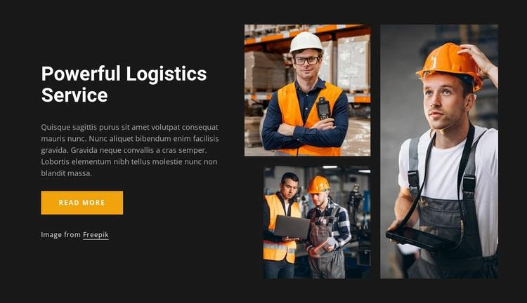Powerful logistics service Web Page Design