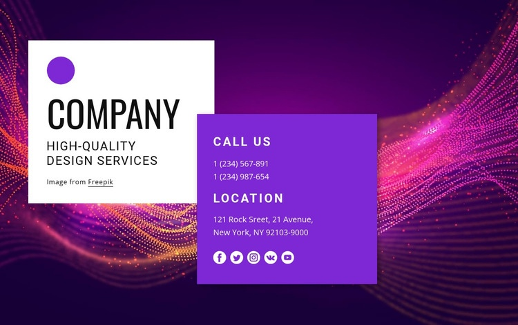 Contact with amazing design team Web Page Designer