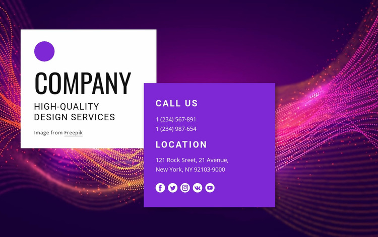 Contact with amazing design team Website Mockup