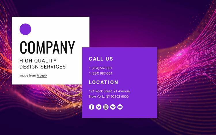 Contact with amazing design team Website Template