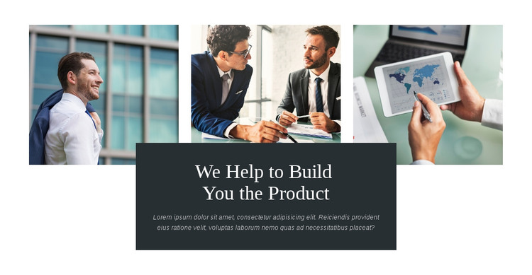 Build you product Homepage Design
