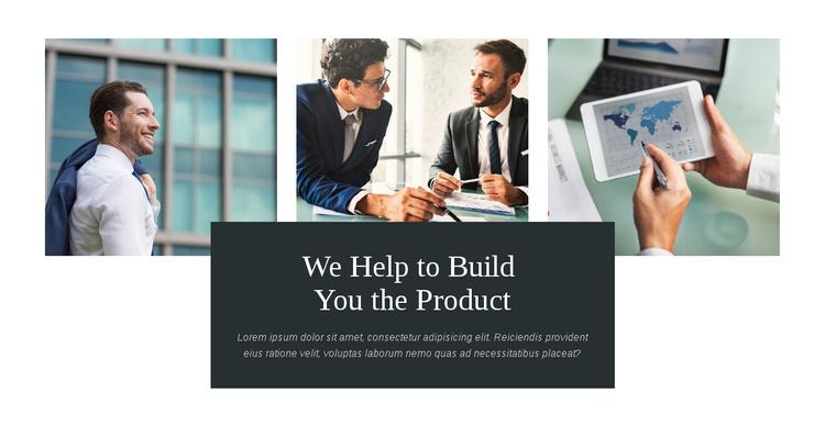 Build you product Joomla Template