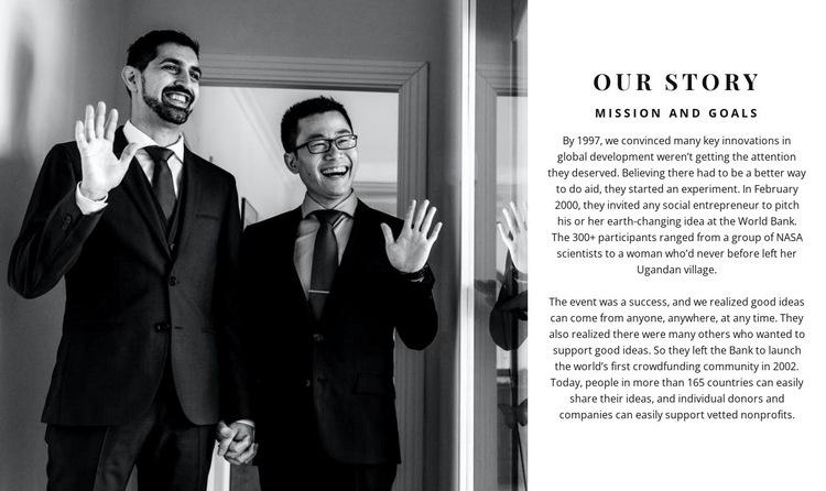 Successful businessmen Web Page Design