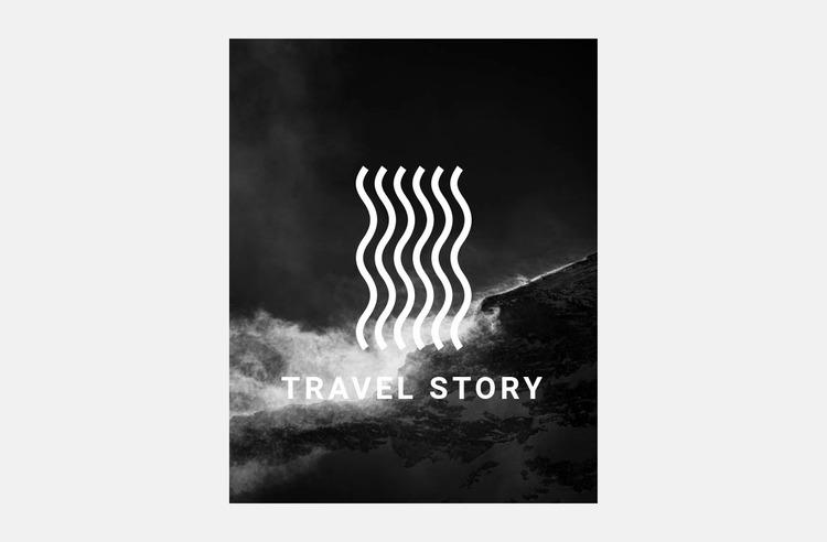 Interesting travel Website Mockup