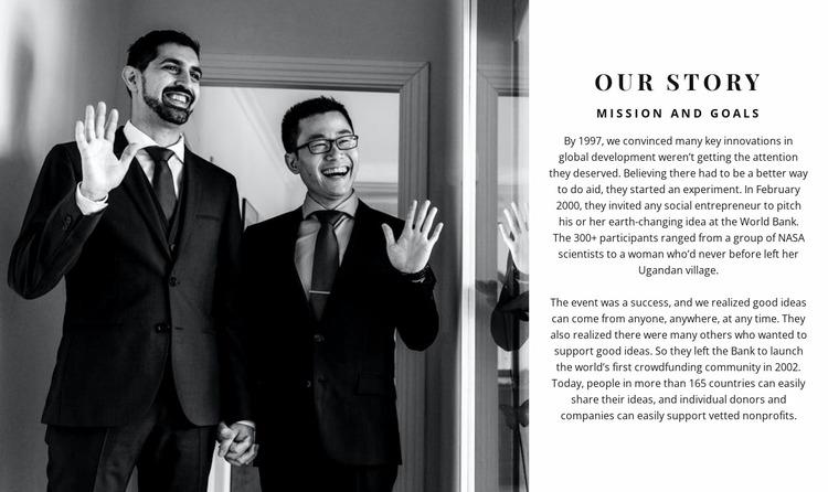 Successful businessmen Website Mockup