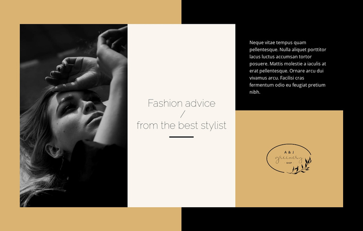 Fashion advice Website Template
