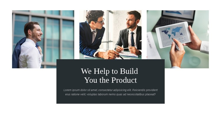 Build you product WordPress Template