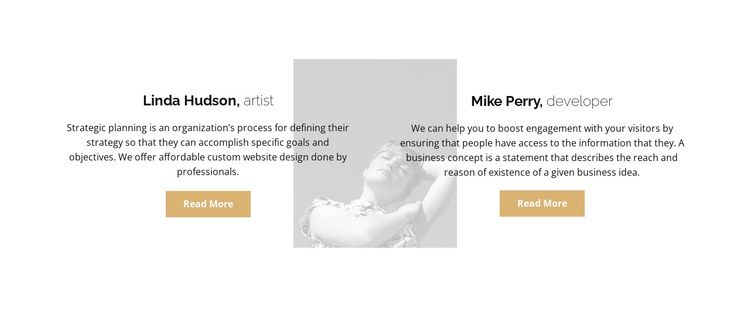 Two reviews HTML Template