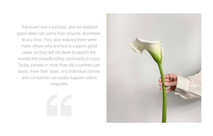 Quote and beautiful flower Web Page Designer