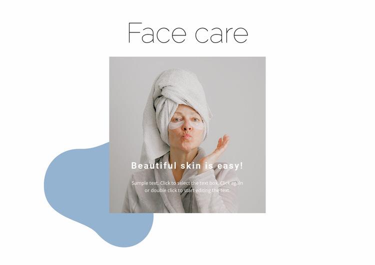 Beautiful skin is easy Website Mockup