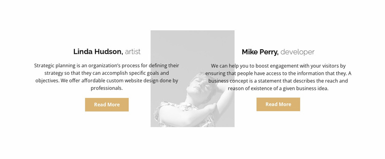 Two reviews Website Template