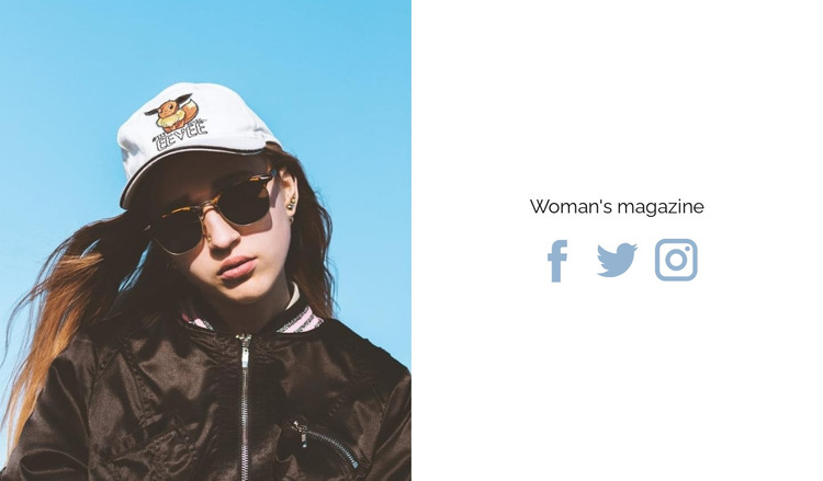 New woman's magazine HTML Template