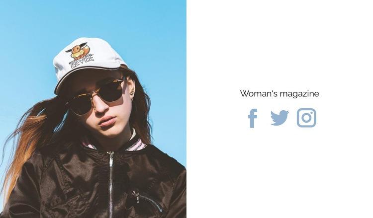 New woman's magazine Web Page Designer