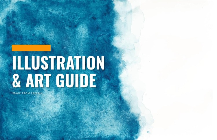 Illustration and art guide CSS Template