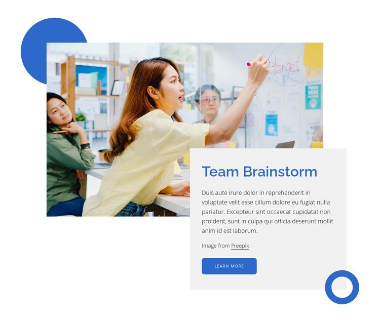 Team brainstorm HTML Template
