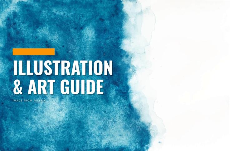Illustration and art guide Website Builder Software