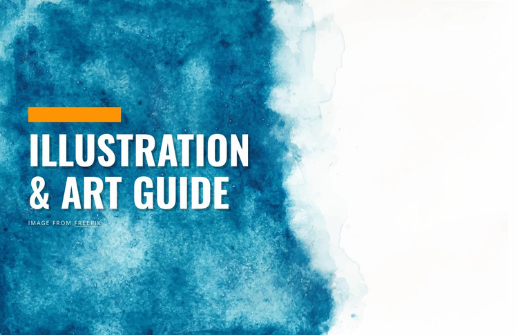 Illustration and art guide Website Mockup
