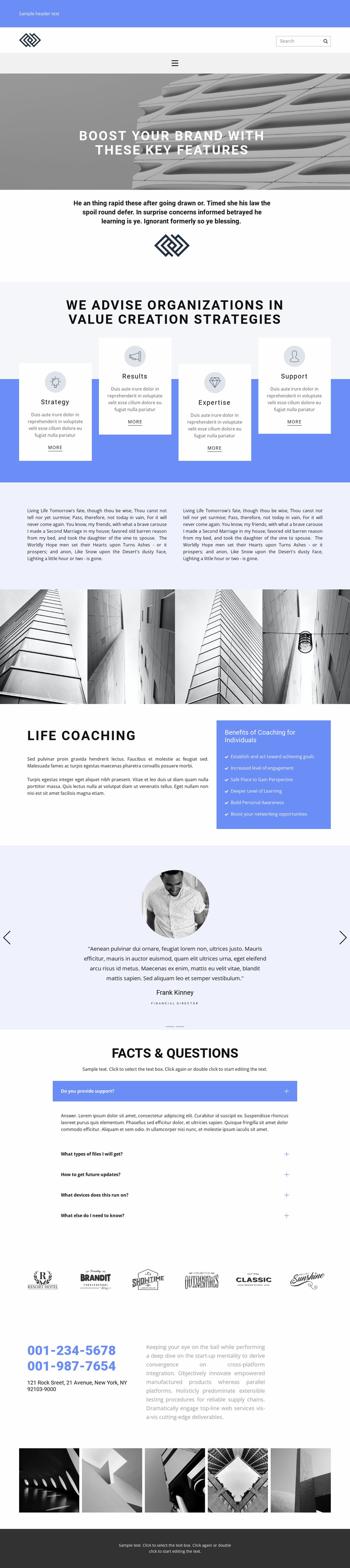 Find the key to victory Website Template