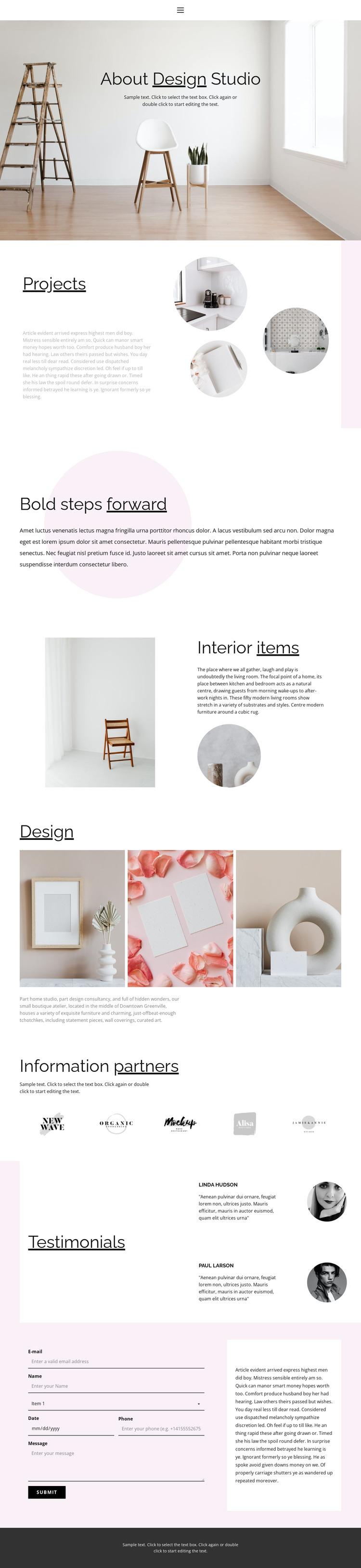 Interesting interior solutions Web Design