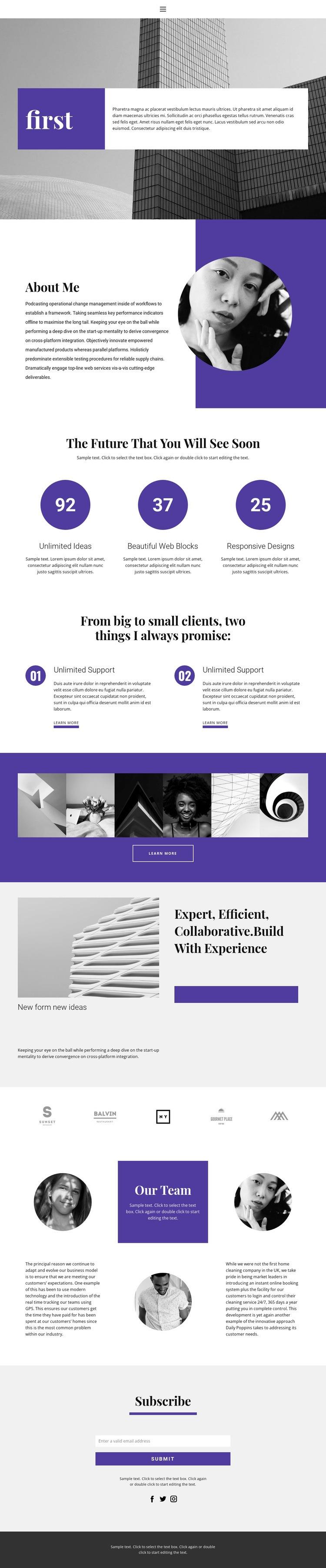 New creative studio Web Page Designer