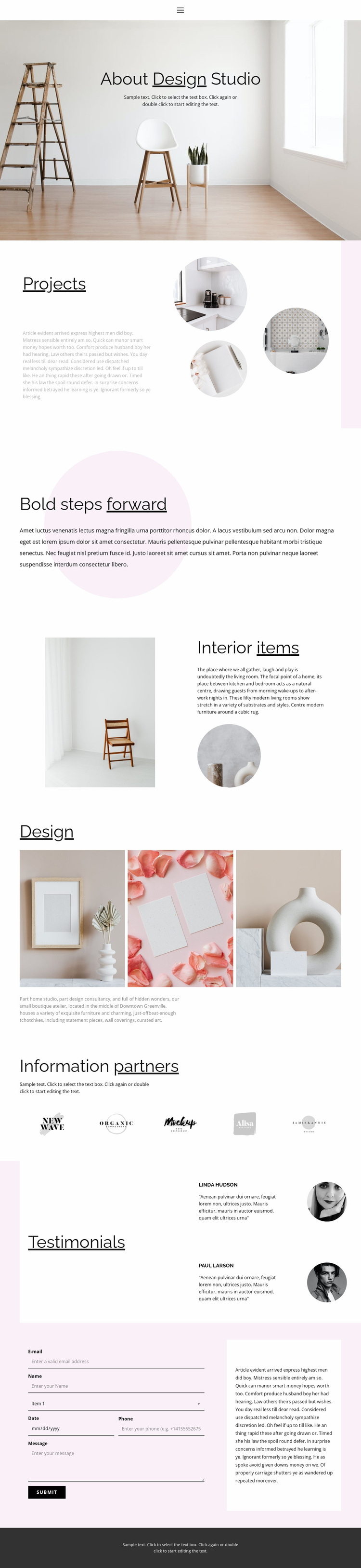 Interesting interior solutions Website Design