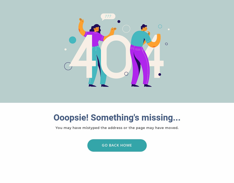 This page is missing Website Template