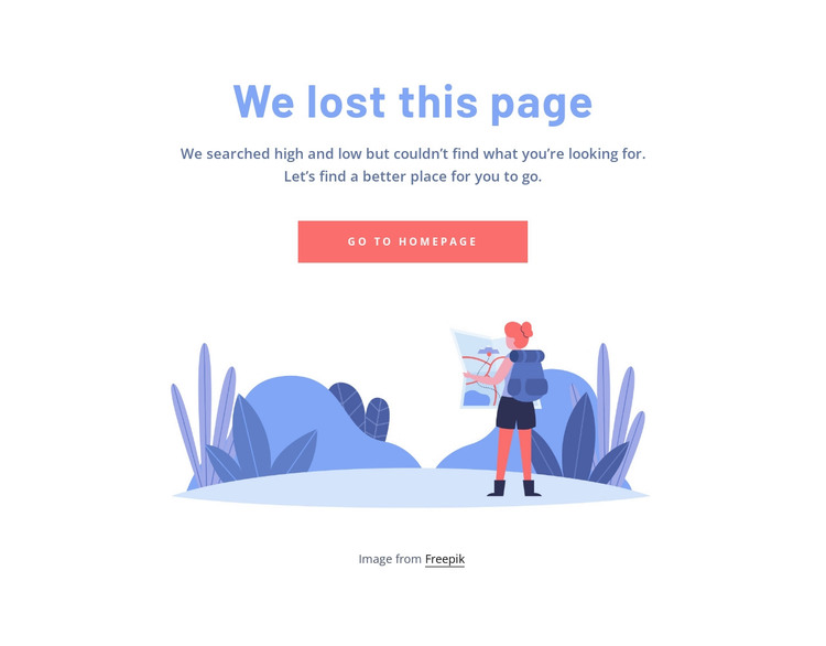 404 page with image HTML Template