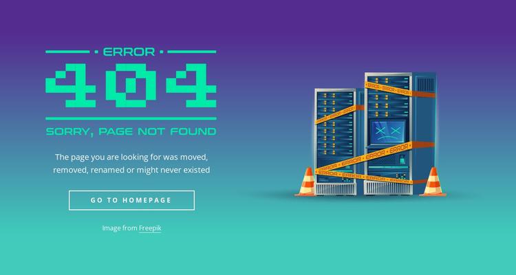 404 not found block Website Template