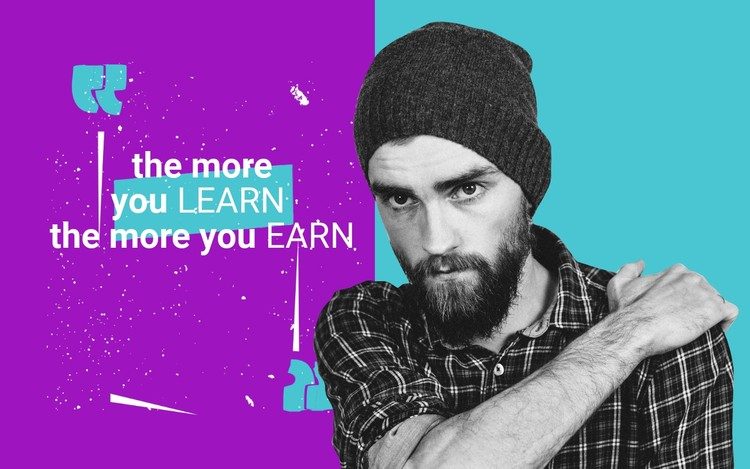 The more you learn CSS Template